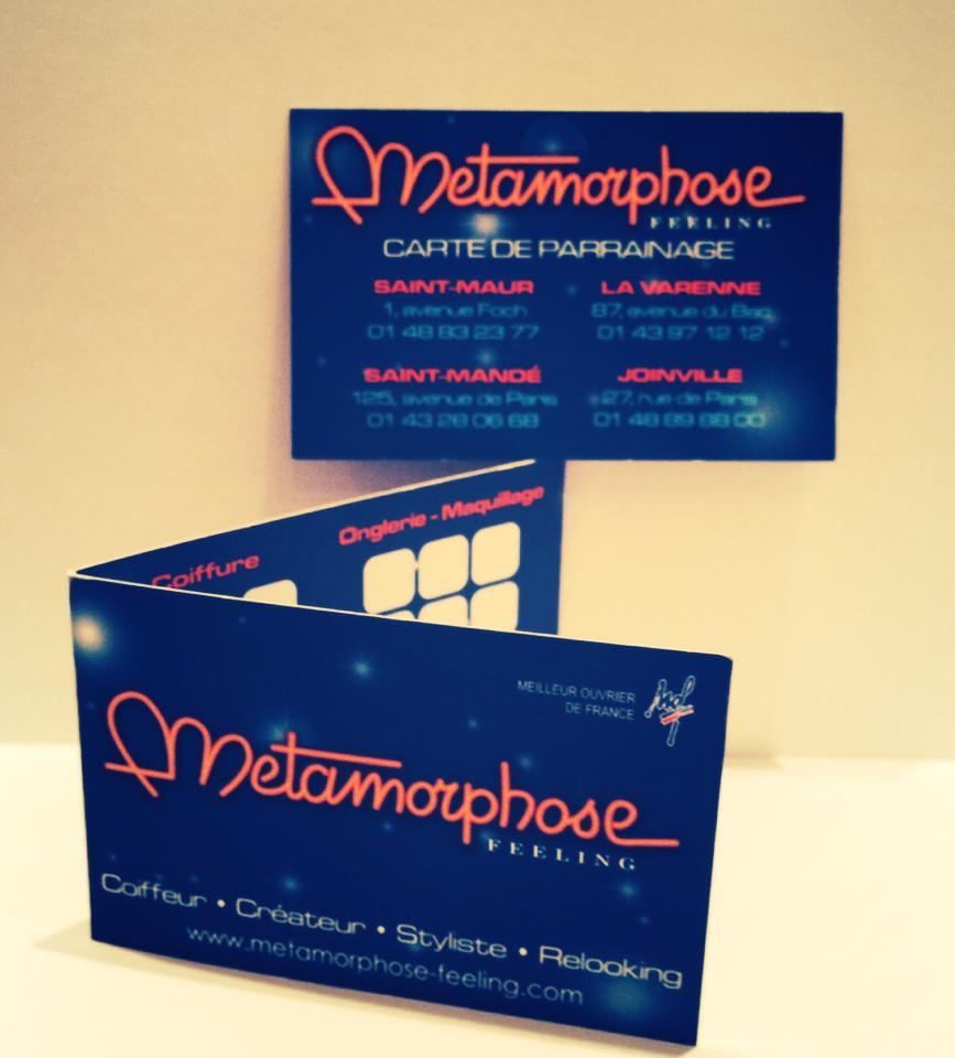metamorphose feeling carte de fid lit carte de parrainage. Black Bedroom Furniture Sets. Home Design Ideas